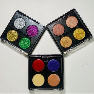 Mac Pigments, Glitter and lips palettes